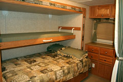 rv bedroom sleeping area