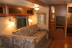 rv living room sofa